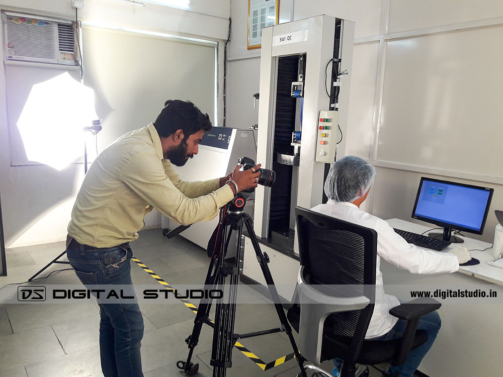Lab testing report video shoot