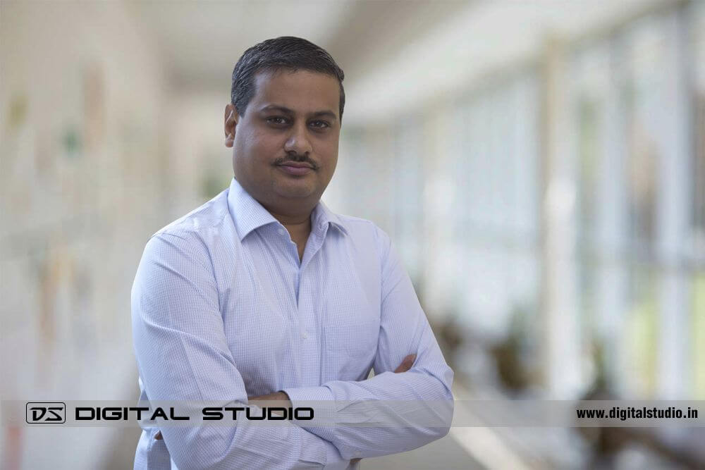 Creative corporate headshot of an executive
