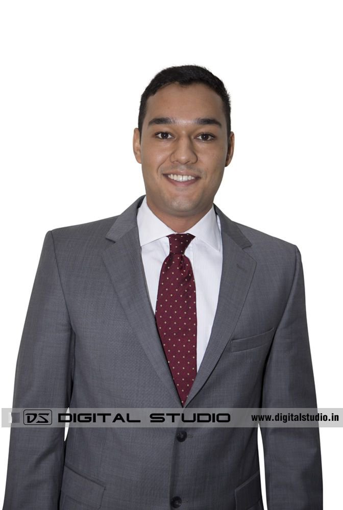 Executive in suit and tie for Corporate Headshot shoot