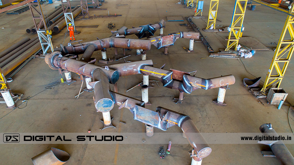 Aerial photograph of fabrication unit