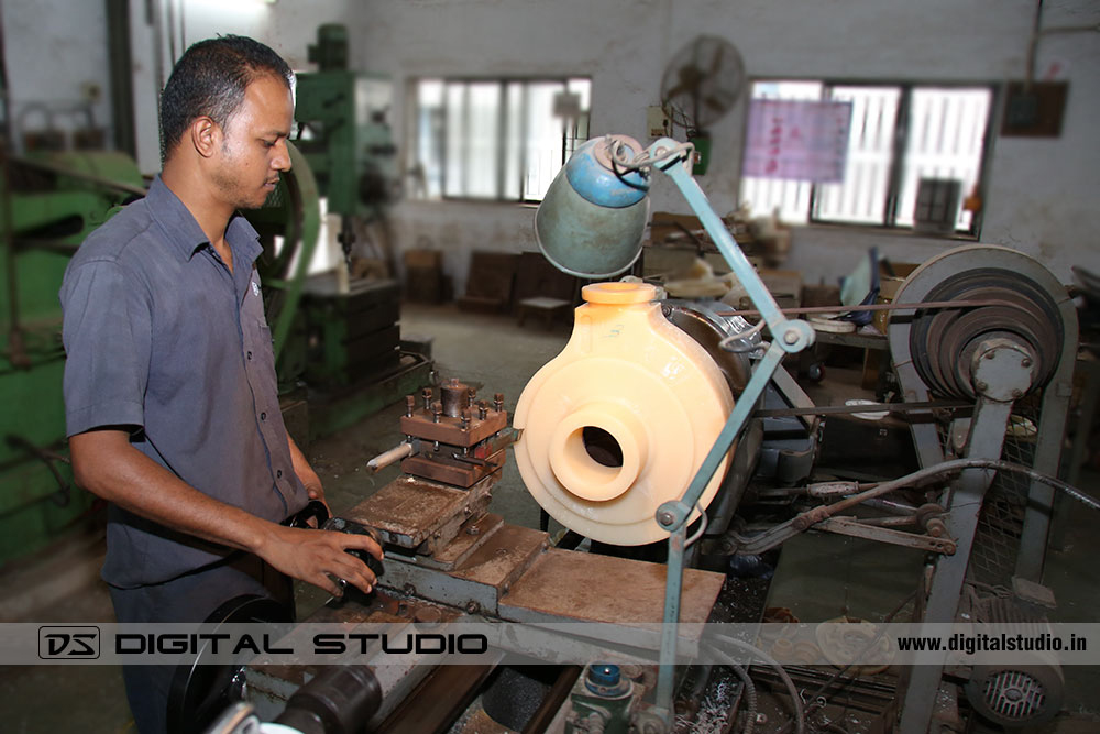 Lathe Machine Worker in a Factory at Valsad