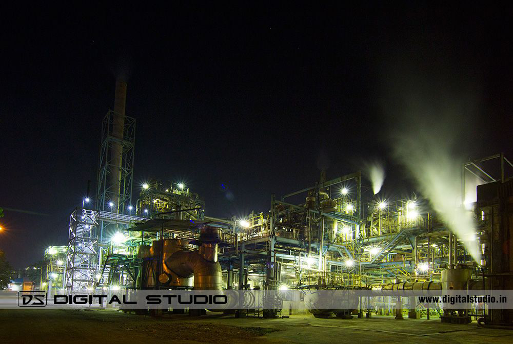 Night Photograph of Petrochemical plant