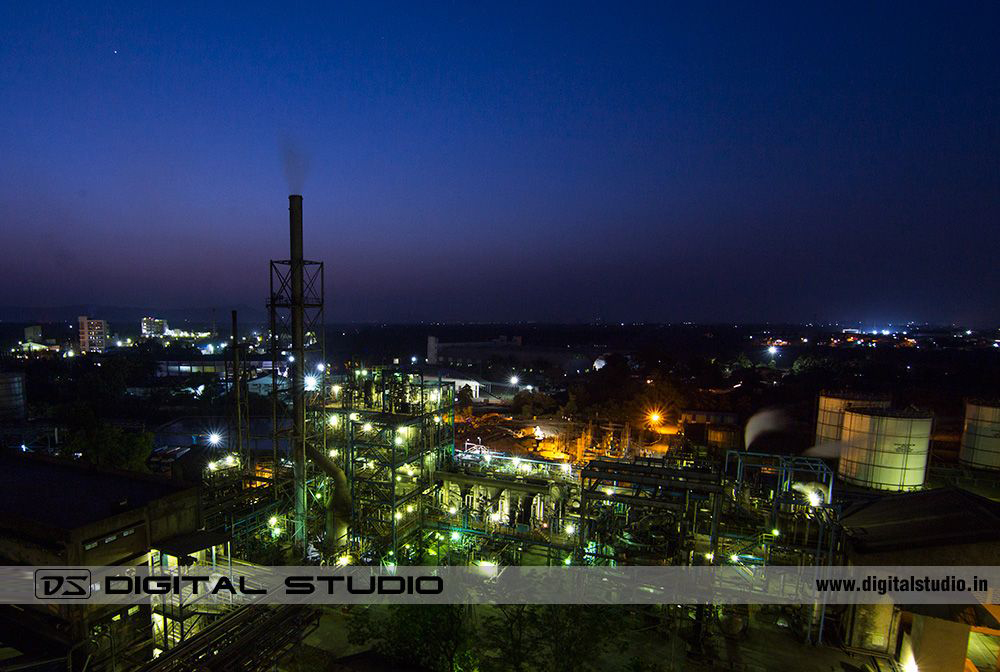 Night Photograph of IGPL Taloja Plant