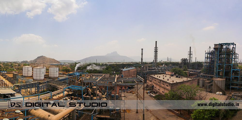 panorama of IG Petrochemicals Taloja plant