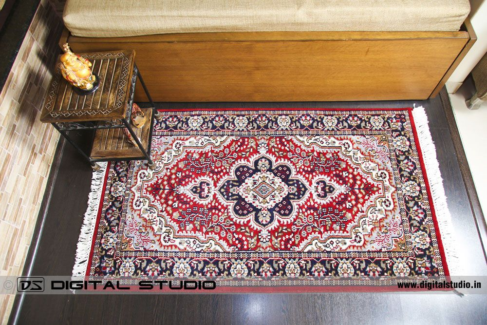 Hand made oriental design silk carpet