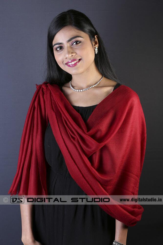 Single knotted style pashmina