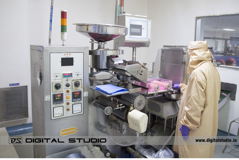 Tablet formulation in pharma plant