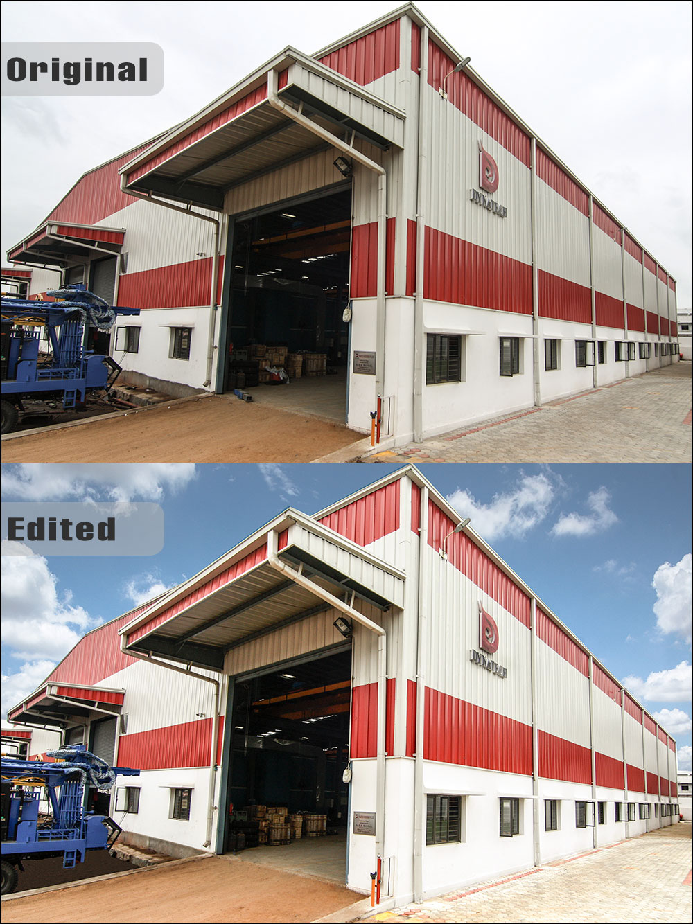 Advanced Retouching of a Factory at Hyderabad