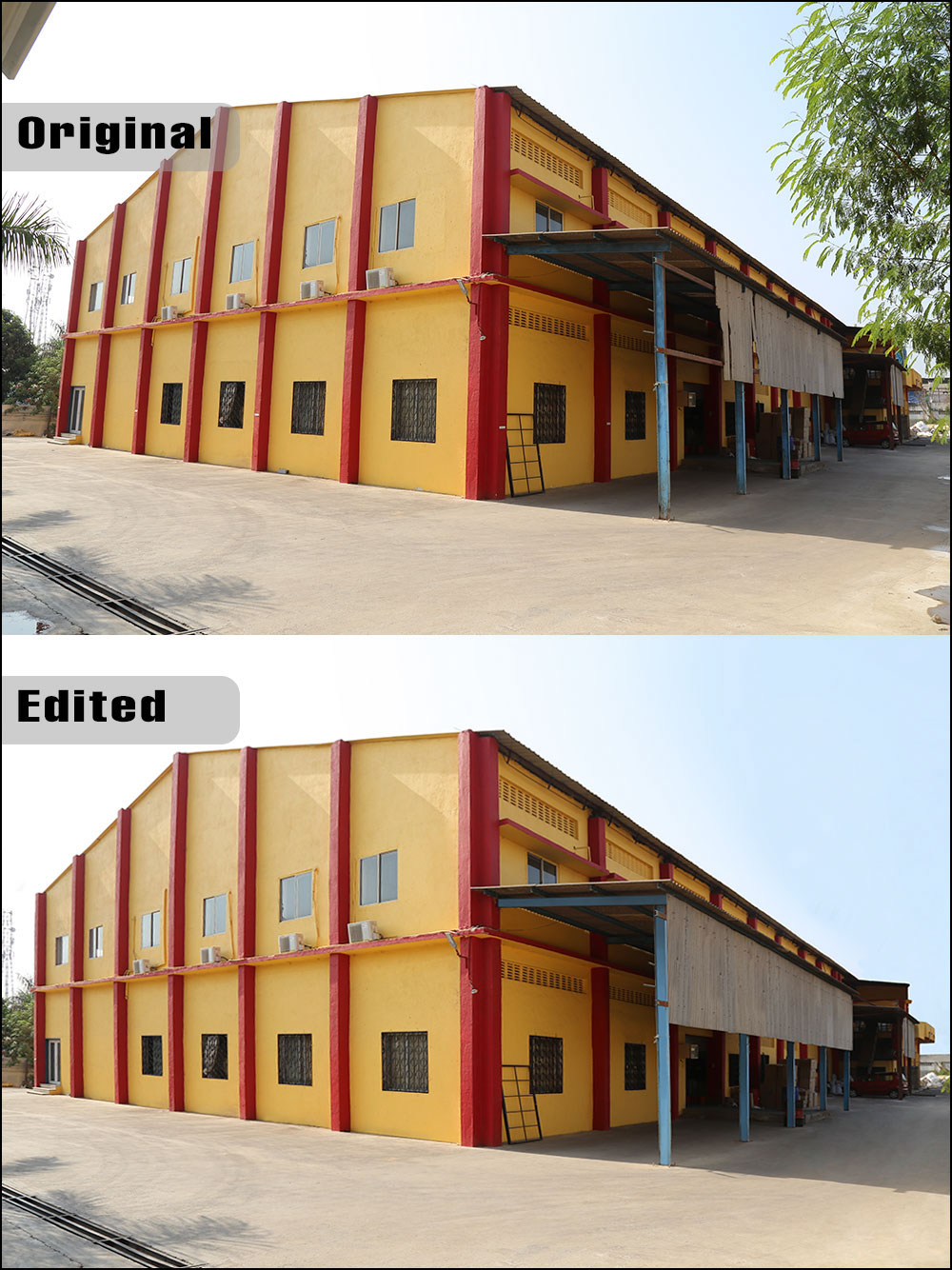 Advanced Retouching of a Factory at Silvasa