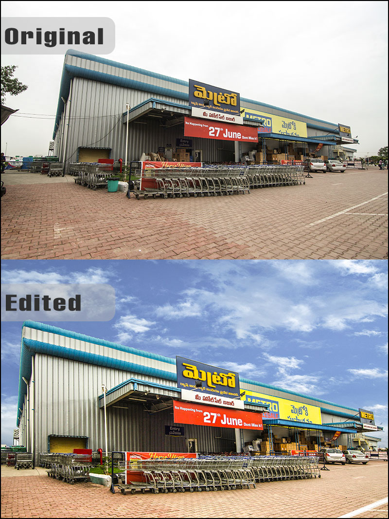 Advanced Retouching of mall in Hyderabad