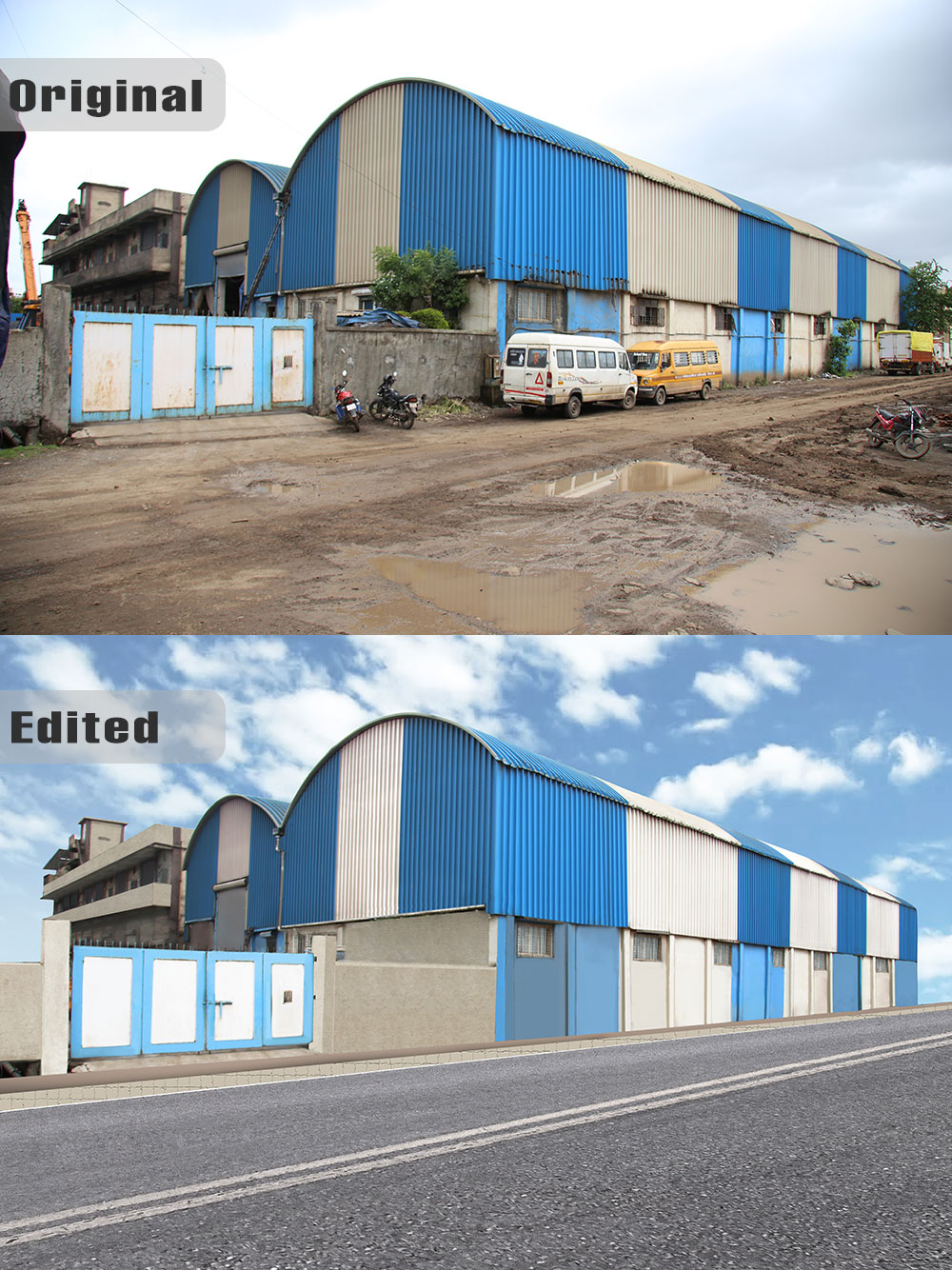 Factory Exterior - Bhiwandi retouched completely