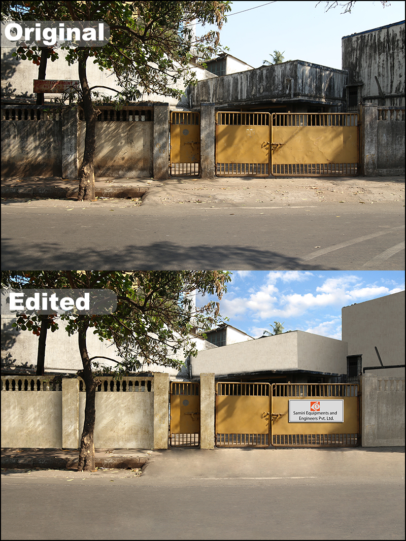 Advanced Retouching of a Factory at Thane