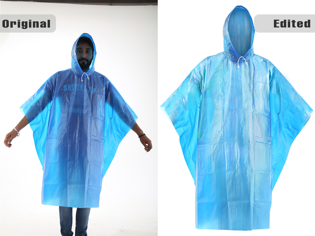 Rain Poncho with high editing and Model disappearing