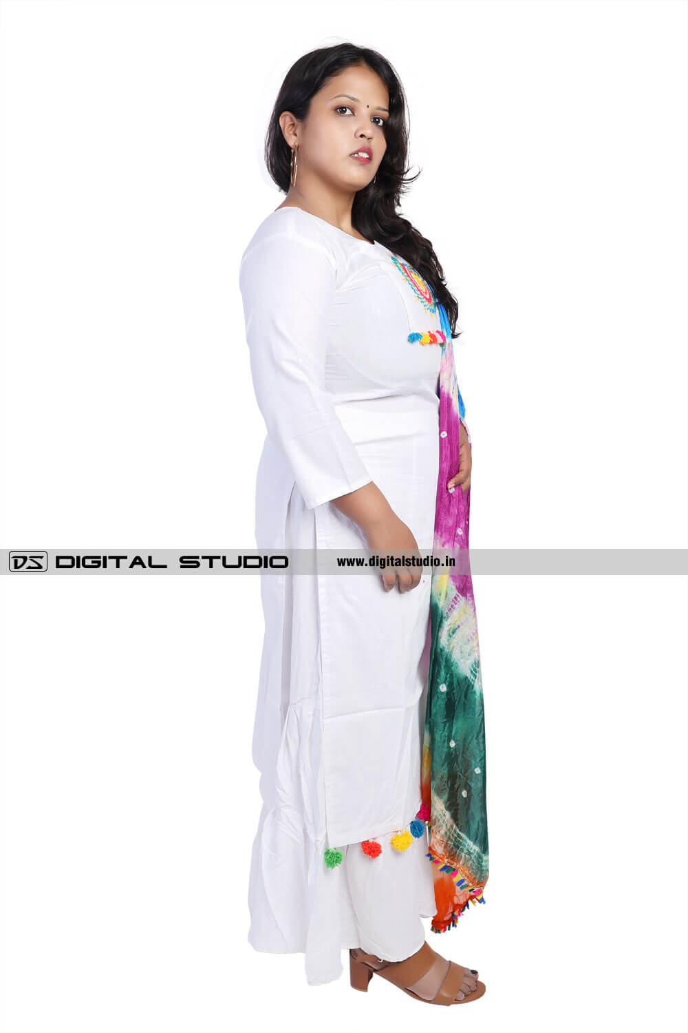 White dress salwar kameez