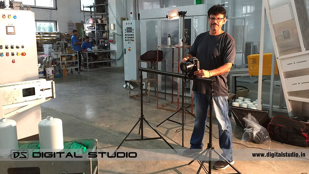 industrial video shooting on slider